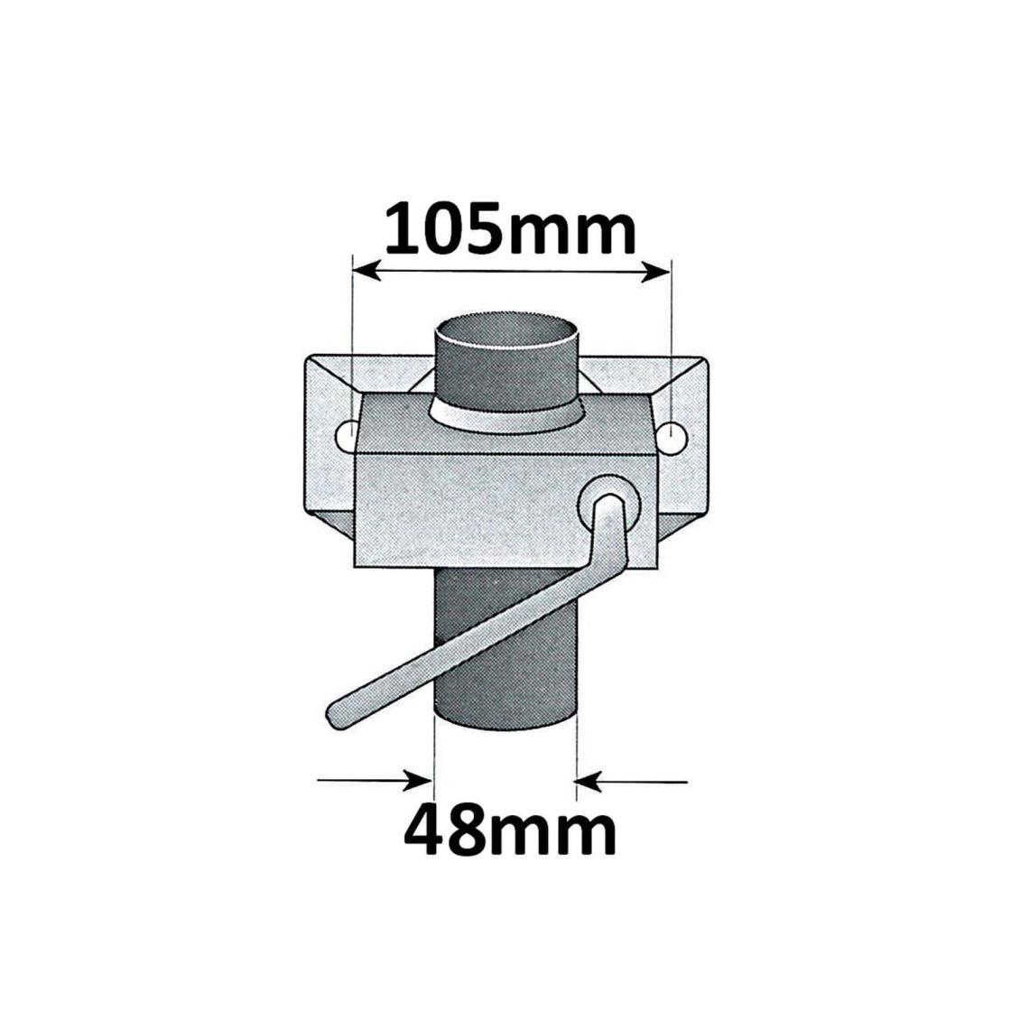 klemmhalter geeignet f r st tzr der st tzf e rohr von 48mm 2 75. Black Bedroom Furniture Sets. Home Design Ideas