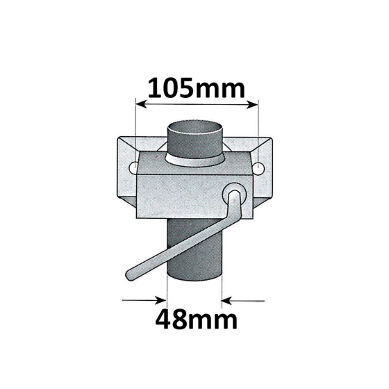150 kg support wheel incl. clamp bracket and 2x round drawbar attachment
