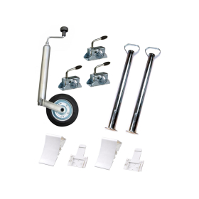 Car trailer accessories set: support wheel, supports,...