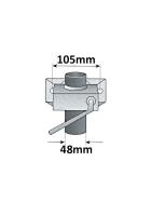 PKW Anhänger Zubehör Set: Stützrad, Stützen, Klemmhalter, Unterlegkeile mit Halter (weiß)