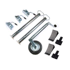 Trailer accessories set - 10 pieces - support wheel,...