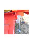 2x Simol Stützfüße mit senkrechter Kurbel inkl. Flansche Traglast 1.300 kg