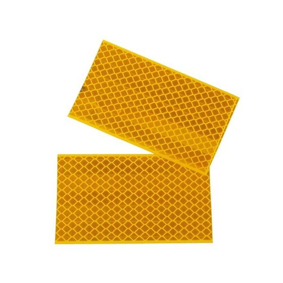 Reflexfolie 2er Set, 3M Diamond Grade Hochreflexfolie gelb, selbstklebend 55x90mm