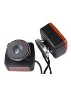 Anhängerbeleuchtung (Dreikammerleuchten) komplett verkabelt - inkl. Leuchtmittel und Magnethalterung
