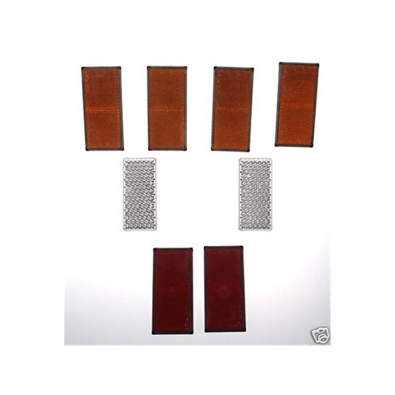 Rückstrahler Set 8-teilig, 105x55mm - selbstklebend