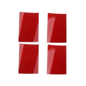 Reflexfolie 4er Set, Hochreflexfolie rot, selbstklebend...