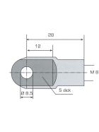 Auge 8,5 mm Gewinde M8