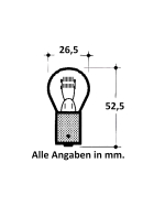 Kugelbirnen 12 Volt 21/5 Watt - BAY 15 d