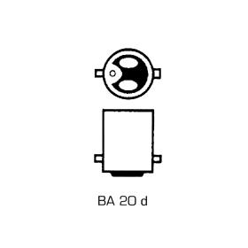Scheinwerferlampe 12 Volt 35/35 Watt - BA 20 d