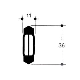 Soffittenlampe 12 Volt 10 Watt - 36 mm - S 8,5