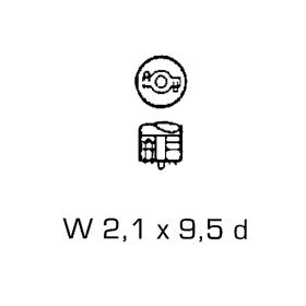 Glassockellampen 12 Volt 3 Watt - W 2,1 x 9,5 d