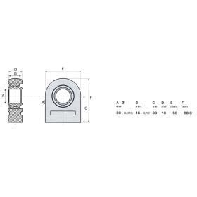 Gelenkkopf GE20 mit Nachschmierung - Ø 20mm