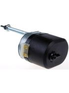 12 Volt Scheibenwischermotor mit einem 105 Grad Wischfeld. Universal geeignet für gängige Schlepperkabinen.