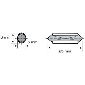 Sicherungseinsätze Kunststoff 8 A - 100 Stück