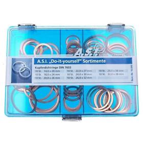 Sortimentskasten Kupferdichtringe DIN 7603 80 tlg.