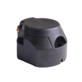 schwarze Kunststoff Steckdose 13 polig mit 12 V inklusive...