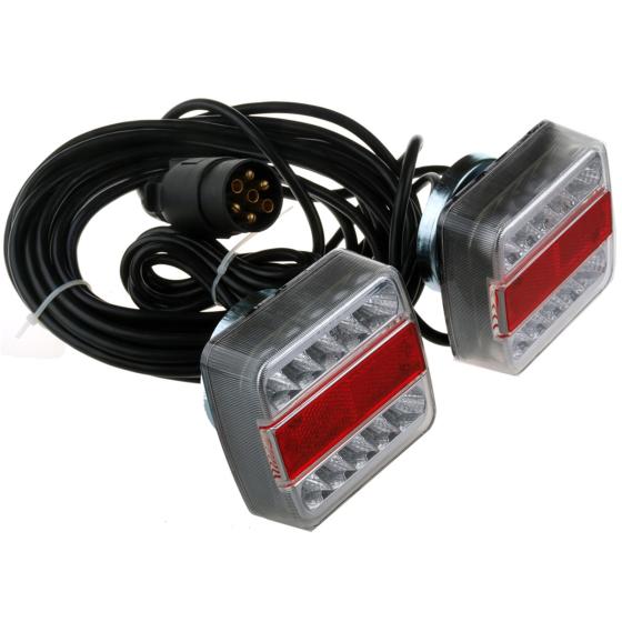 Anhängerbeleuchtung Anhängerleuchte mit Magneten LED Anhänger Rückleuchten